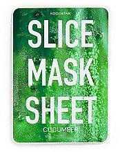 Парфюмерия и Козметика Маска за лице с екстракт от краставица - Kocostar Slice Mask Sheet Cucumber
