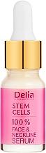Парфюмерия и Козметика Интензивен подмладяващ серум против бръчки за лице и шия със стволови клетки - Delia Face Care Stem Sells Face Neckline Intensive Serum