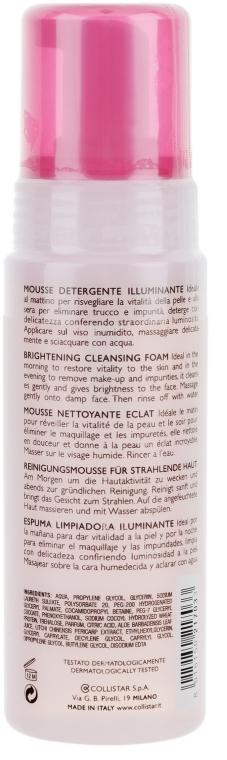Почистваща пяна за лице против стареене - Collistar Brightening Cleansing Foam 200ml — снимка N2
