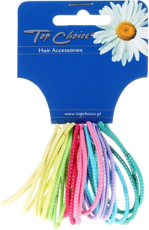 Тънки ластици за коса 24бр., микс цветове, 22173 - Top Choice — снимка N1