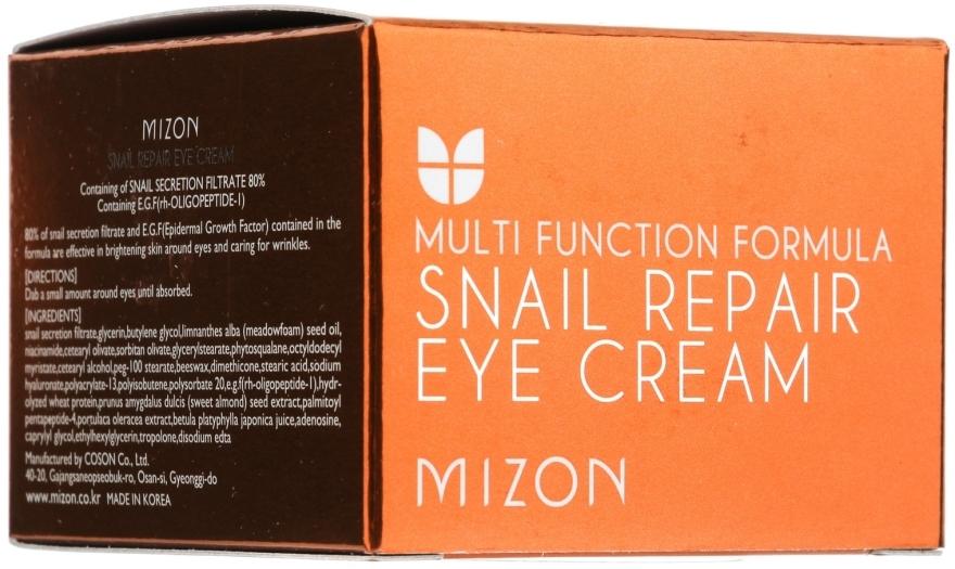 Околоочен крем с екстракт от охлюв - Mizon Snail Repair Eye Cream — снимка N2