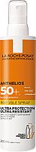Парфюмерия и Козметика Ултра лек слънцезащитен спрей за лице и тяло SPF50+ - La Roche-Posay Anthelios Invisible Spray