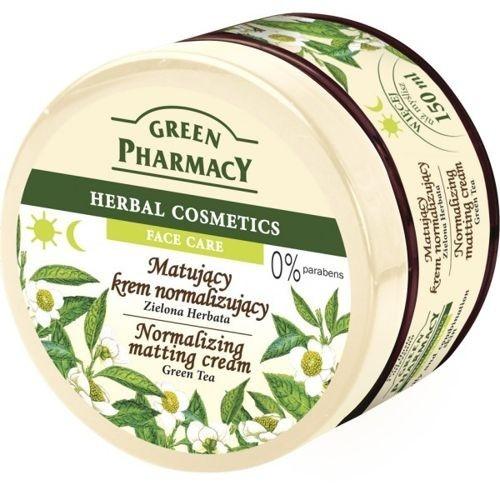 """Матиращ крем за лице """"Зелен чай"""" - Green Pharmacy Normalizing Matting Cream"""
