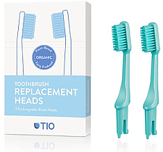 Парфюмерия и Козметика Сменяеми глави за четка за зъби, средна твърдост, тюркоаз - TIO Toothbrush Medium
