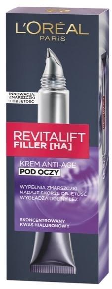 Околоочен крем-филър - L'Oreal Paris Revitalift Filler HA Anti-Age Eye Cream
