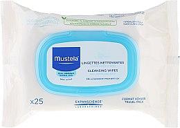 """Парфюмерия и Козметика Почистващи кърпички за лице """"Travel Pack"""" - Mustela Facial Cleansing Wipes"""