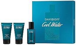Парфюмерия и Козметика Davidoff Cool Water - Комплект (тоал. вода/40 ml + душ гел/50 ml + афтър. балсам/50 ml)