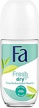 """Парфюмерия и Козметика Дезодорант рол-он """"Зелен чай"""" - Fa Fresh & Dry Deodorant Roll-On"""