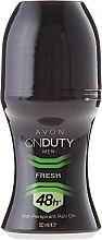 Парфюми, Парфюмерия, козметика Дезодорант-антиперспирант - Avon On Duty Men Fresh 48H Anti-persrirant Roll-On