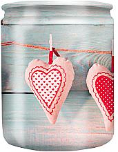 """Парфюми, Парфюмерия, козметика Ароматна свещ в чаша с картинка """"Hearts"""" 82/68 - Bolsius Aromatic"""