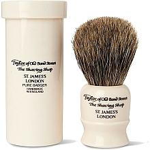 Парфюмерия и Козметика Четка за бръснене, 8,5 см, с калъф - Taylor of Old Bond Street Shaving Brush Pure Badger