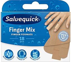Парфюмерия и Козметика Пластири за пръсти - Salvequick Finger Mix