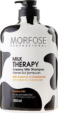 Шампоан за коса с млечен протеин - Morfose Milk Therapy Hair Shampoo — снимка N1