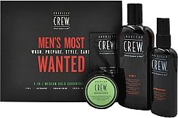 Парфюмерия и Козметика Комплект - American Crew Men's Most Wanted (шампоан/250ml + крем/50g + спрей/100ml + балсам/7.4ml)
