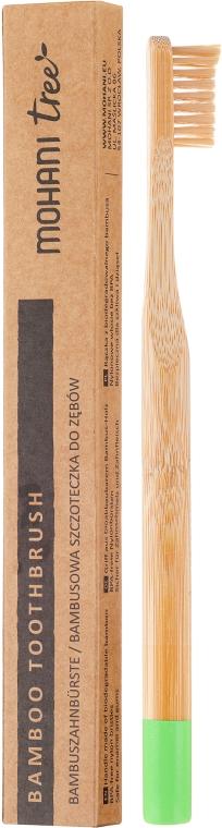 Бамбукова четка за зъби, мека, зелена - Mohani Toothbrush