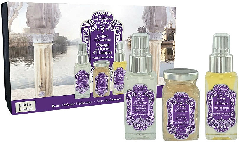 La Sultane de Saba Musk Incense Vanilla - Комплект (спрей/50ml + скраб/100ml + масло/50ml) — снимка N1