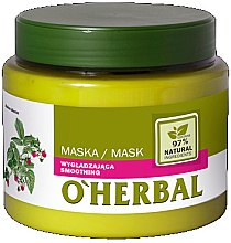 Парфюмерия и Козметика Изглаждаща маска за коса с екстракт от малина - O'Herbal