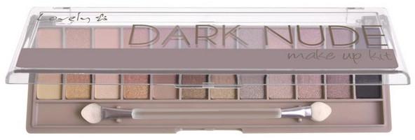 Палитра сенки - Lovely Dark Nude Make Up Kit