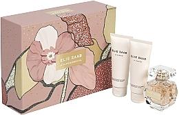 Парфюмерия и Козметика Elie Saab Le Parfum Essentiel - Комплект (душ крем/75 ml + лосион/75 ml + парф. вода/50 ml)