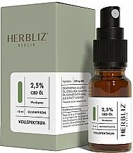 Парфюмерия и Козметика Спрей за уста с масло от маслина и канабидиол 2,5% - Herbliz CBD Olive Fresh Oil Mouth Spray 2,5%