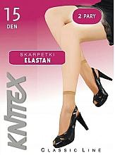"""Парфюмерия и Козметика Къси дамски чорапи """"Elastan"""" 15 Den, 2 чифта, visone - Knittex"""