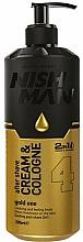 Парфюмерия и Козметика Крем-одеколон за след бръснене - Nishman After Shave Cream Cologne 2in1 Gold One №04