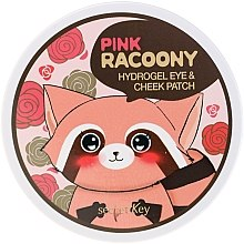Парфюми, Парфюмерия, козметика Хидрогелни пачове за очи и скули - Secret Key Pink Racoony Hydro-Gel Eye & Cheek Patch