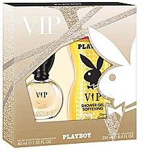 Парфюмерия и Козметика Playboy VIP for Her - Комплект (тоал. вода/40ml+душ гел/250ml)