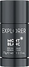 Парфюмерия и Козметика Montblanc Explorer - Стик дезодорант