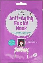 Парфюмерия и Козметика Маска за лице против стареене от плат - Cettua Anti-Aging Facial Mask