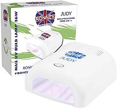 Парфюмерия и Козметика Лампа за нокти UV, бяла - Ronney Profesional Judy UV 36W (GY-UV-230) Lamp
