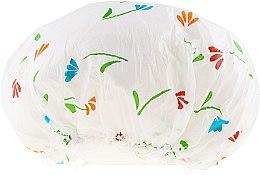 Парфюмерия и Козметика Шапка за душ, 9298, бяла с цветя - Donegal Shower Cap