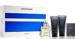 Парфюми, Парфюмерия, козметика Calvin Klein Eternity For Men - Комплект (тоал. вода/100ml + афтър.бал./100ml + тоал. вода/20ml + душ гел/100ml)