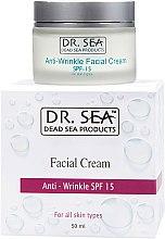 Парфюмерия и Козметика Крем против бръчки SPF 15 - Dr. Sea Anti-Wrinkle Facial Cream SPF 15