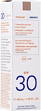 Тониращ слънцезащитен крем за лице - Korres Yoghurt Tinted Sunscreen Face Cream SPF30 — снимка N2