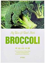 Парфюмерия и Козметика Интензивно почистваща памучна маска за лице с екстракт от броколи - A'pieu My Skin-Fit Sheet Mask Sea Broccoli
