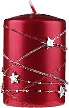 Парфюмерия и Козметика Декоративна свещ, червена, 11х7см - Artman Christmas Garland