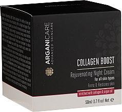 Парфюми, Парфюмерия, козметика Подмладяващ нощен крем за лице - Arganicare Collagen Boost Rejuvenating Night Cream