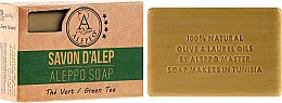 "Парфюми, Парфюмерия, козметика Алепо сапун ""Зелен чай"" - Alepeo Aleppo Soap Green Tea 8%"