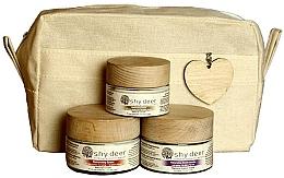 Парфюмерия и Козметика Комплект за суха и нормална кожа - Shy Deer Natural Ritual Set (крем-маска/50ml + крем/50ml + околооч. крем/30ml + чанта)