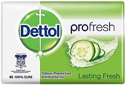 Парфюмерия и Козметика Антибактериален сапун с екстракт от краставица - Dettol Anti-bacterial Lasting Fresh Soap