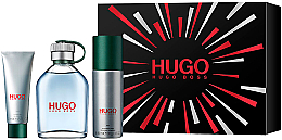 Парфюми, Парфюмерия, козметика Hugo Boss Hugo Men - Комплект (тоал. вода/125ml+ део/150ml + душ гел/50ml)