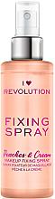 Парфюми, Парфюмерия, козметика Фиксиращ спрей за грим - Makeup Revolution Fixing Spray Peaches & Cream