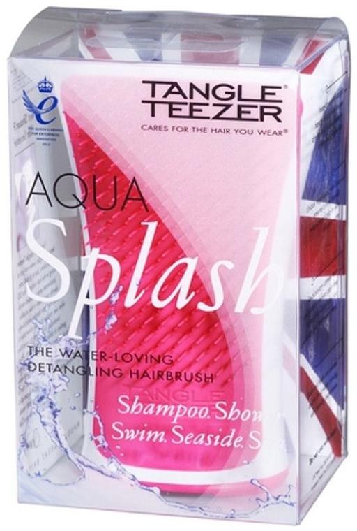 Четка за коса - Tangle Teezer Aqua Splash Pink Blush — снимка N4