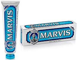 """Парфюми, Парфюмерия, козметика Паста за зъби с ксилитол """"Морска мента"""" - Marvis Aquatic Mint + Xylitol"""