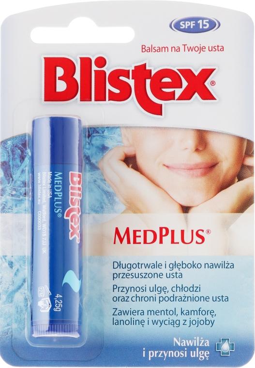 Овлажняващ балсам за устни - Blistex MedPlus Stick Lip Balm