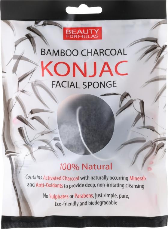 Бамбукова почистваща гъба конджак за лице - Beauty Formulas Konjac Bamboo Charcoal Facial Sponge