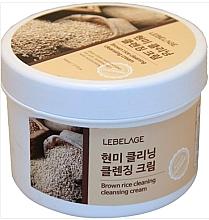 Парфюмерия и Козметика Почистващ крем за лице с кафяв ориз - Lebelage Brown Rice Cleaning Cleansing Cream