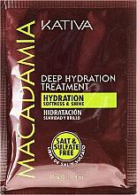 Парфюмерия и Козметика Интензивно овлажняваща маска за нормална и увредена коса - Kativa Macadamia Deep Hydrating Treatment