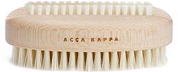 Парфюмерия и Козметика Четка за нокти, бяла - Acca Kappa Double Plastic Nail Brush